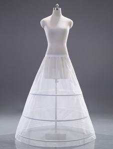 White OneTier Quality ALine Slip Wedding Petticoat for Brides