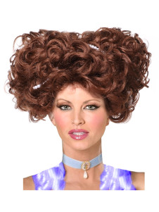 Quality Brown Curly Synthetic Short Halloween wig For Women
