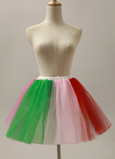 Quality Multi Color Short Flare Slip Wedding Petticoat for Brides