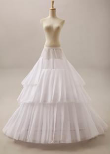Fashion White Chaoel Train Wedding Petticoat for Brides