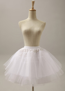 Fantastic White Short Flare Slip Bridal Wedding Petticoat
