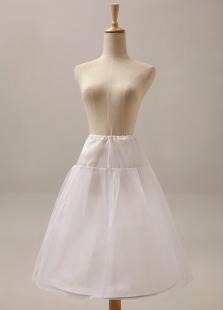White OneTier Fashion Flower Girl Slip Bridal Wedding Petticoat