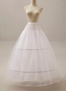 White TwoTier Beautiful Ball Gown Slip Wedding Petticoat for Bride