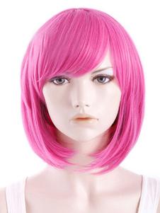 Quality Peachpuff Straight Heatresistant Fiber Women's Short Halloween wig