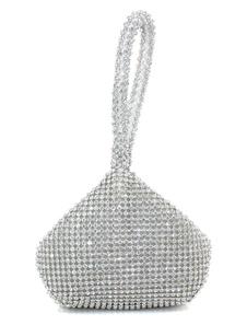 Sweet Silver Glitter Rhinestone Evening Bag For Woman
