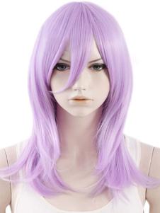 Quality Lilac Straight Sexy Heatresistant Fiber Women's Medium Halloween wig