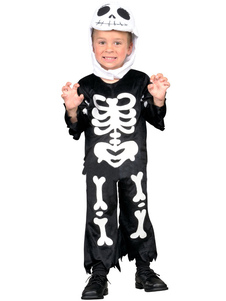 Halloween Childrens Skeleton Costume