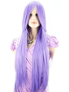 Womens Long Staight Wig Purple Halloween Wig In Heatresistant Fiber