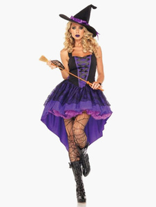 Purple Witch Halloween Cosplay costume