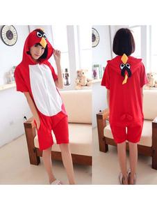 Image of Costume Carnevale Pigiama Kigurumi Pigiama Rosso Tutina Corta da