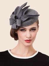Grey 1920's flapper headwear