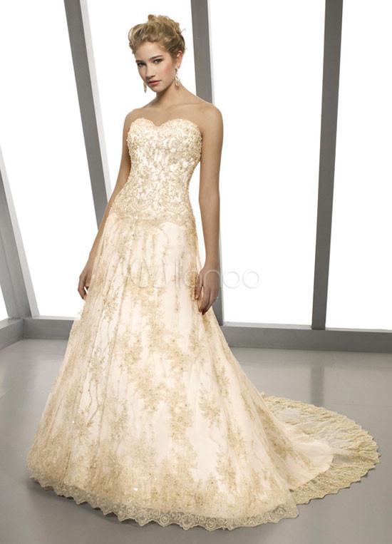 Vestidos novia dorados