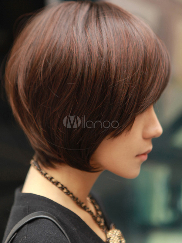 styles on hair cool brown synthetic wig for 4423