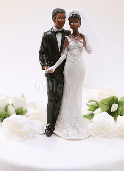ethnic wedding cake toppers figurines black resin figurine ethnic wedding cake topper 14041